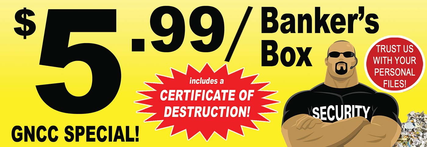 Trust Us With Your Personal Files - Includes a Certificate of Destruction