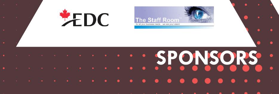 Sponsors: Community Crew - Vistaprint - mk - bdc - ccc - EDC - THe Staff Room