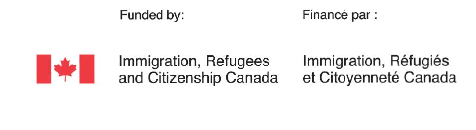 Funded by: Immigration, Refugees and Citizenship Canada / Financé par: Immigration, Réfugiés et Citoyenneté Canada