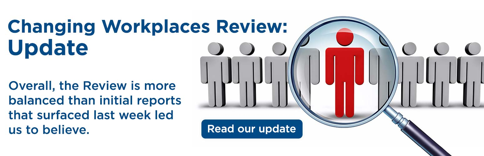 Changing Workplaces Review: Update
