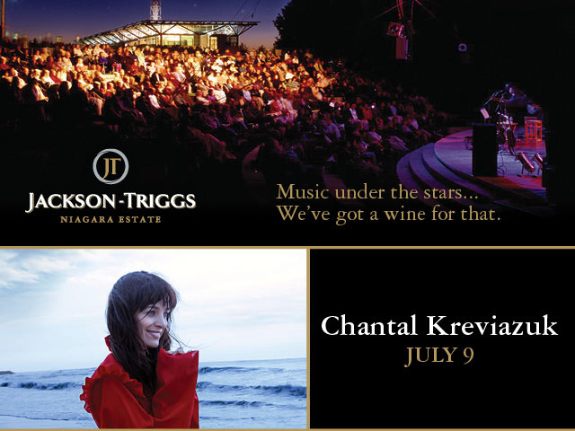 Jackson-Triggs Niagara Estate — Music under the stars... We've got a wine for that. Join us for a concert with Chantal Kreviazuk on July 9.