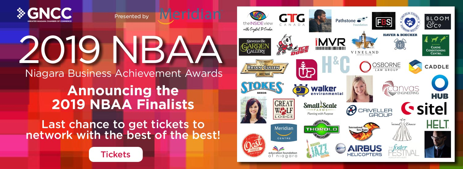 Join us at the 2019 Niagara Business Achievement Awards - Meet the Finalists