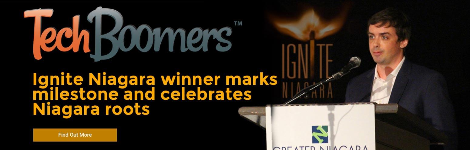 Ignite Niagara winner Steve Black of TechBoomers marks milestone and celebrates Niagara roots