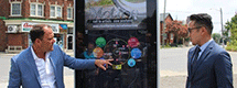 Giant Cellphone Lands in Montebello Park