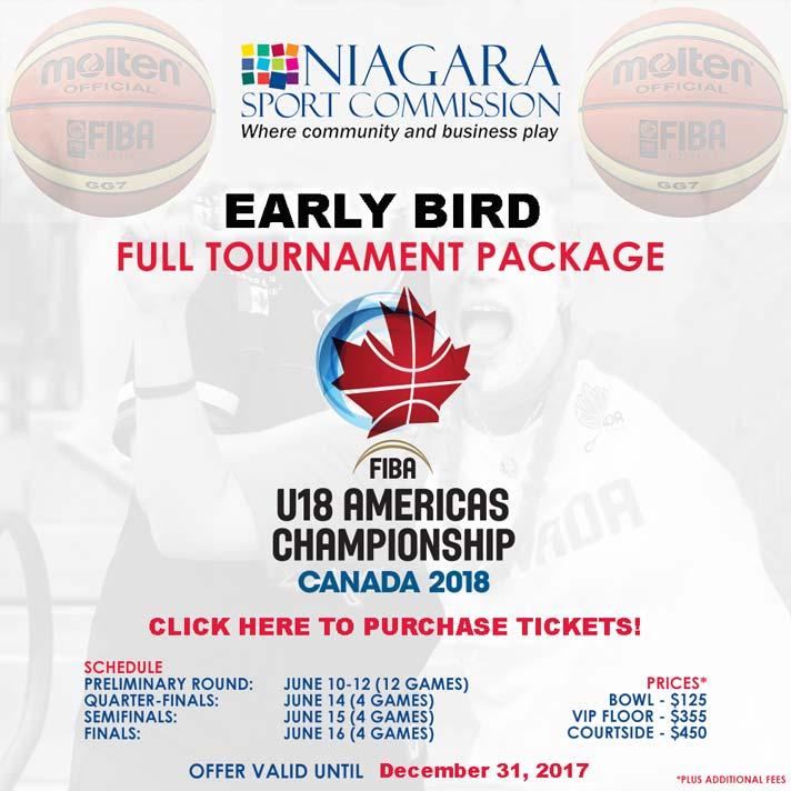 FIBA U18 Americas Championship - Early Bird Tickets Available