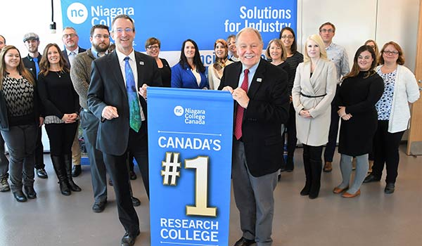 Niagara College Ranks No.1 in Top 50 Research Colleges Report