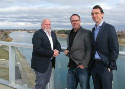 Mayor Frank Campion, Richard Dalton (WRCC Interim General Manager), Gary Long (Welland CAO)