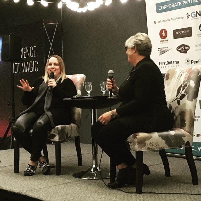 Ruth Unrau interviews Allie Hughes at WINspirational Women